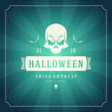Halloween Background and Skull Stock Photos