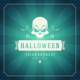 Halloween Background and Skull Stock Photos