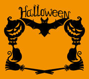 Halloween background with space for text. Royalty Free Stock Image