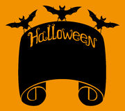 Halloween background with space for text. Royalty Free Stock Photos