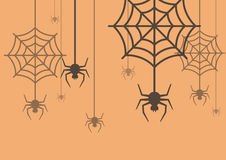 Halloween background Spider with Cobweb. Vector Illustration stock illustration