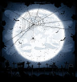 Halloween background with spider Royalty Free Stock Photos