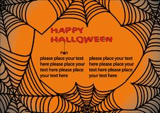 Halloween background with spider's web 3. Royalty Free Stock Images