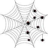 Halloween background with spider web 1 Royalty Free Stock Photos