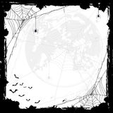 Halloween background with spiders and bats Royalty Free Stock Photo