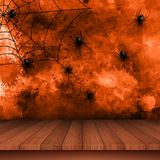 Halloween background with spiders on grunge background royalty free illustration