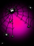 Halloween background with spiders and place for text Stock Photography