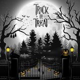 Halloween background with spooky graveyard. Illustration of Halloween background with spooky graveyard Royalty Free Stock Images