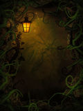 Halloween background with spooky vines vector illustration