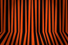 Halloween background striped room in orange and black. Vector il. Lustration Stock Images