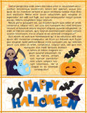 Halloween background with text Stock Photography