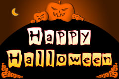 Halloween Background text Stock Photo