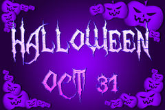 Halloween Background text Royalty Free Stock Photos