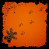 Halloween background with toy Royalty Free Stock Photos
