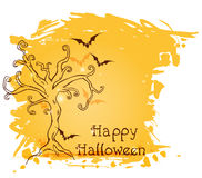 Halloween background with tree Royalty Free Stock Photos