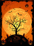 Halloween background with tree Royalty Free Stock Image