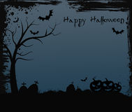 Halloween background with tree Stock Image