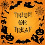 Halloween Background. Trick or treat Stock Images