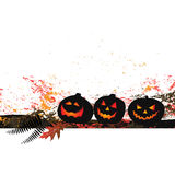 Halloween background - two pumpkins Royalty Free Stock Photos
