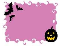 Halloween background - vector. Halloween background with pumpkins - vector illustration Royalty Free Stock Images