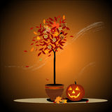 Halloween background vector illustration Royalty Free Stock Image