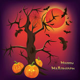 Halloween background, vector illustration Stock Photography