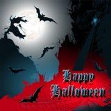 Halloween background. Vector illustration. Stock Photography