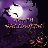Halloween background. Vector illustration. Royalty Free Stock Photos