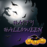 Halloween background. Vector illustration. Royalty Free Stock Image