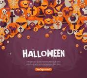 Halloween Background. Vector Illustration. Flat Stock Photos