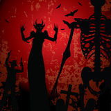 Halloween background vector illustration Royalty Free Stock Photography