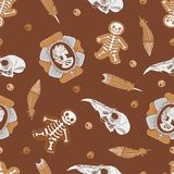 Halloween background with vintage brooch Royalty Free Stock Photography