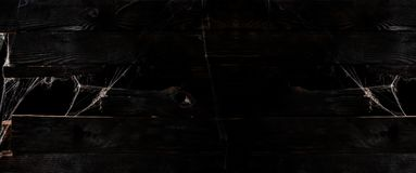 Halloween background and wallpaper. Dark wooden texture and empty space for text royalty free stock photos