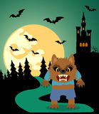 Halloween background with Werewolf Royalty Free Stock Photo