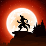 Halloween background with werewolf Royalty Free Stock Photography