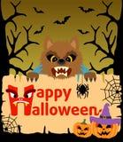 Halloween background with Werewolf vector Stock Photos
