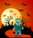 Halloween background with Zombie Royalty Free Stock Photo