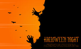 Halloween background with zombie landscape Royalty Free Stock Photos