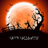 Halloween background with zombie Royalty Free Stock Photography