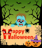 Halloween background with  Zombie vector Royalty Free Stock Images