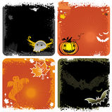 Halloween backgrounds. Hallooween four graphic grungers  backgrounds with copyspace Stock Image