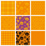 Halloween backgrounds. Set of Halloween backgrounds. Halloween party patterns Stock Images