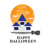 Halloween backgrounds. Vector illustration. Stock Photos