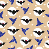 Halloween backgrounds. Vector illustration.seamless pattern Stock Images