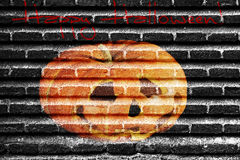 Halloween-Backsteinmauer Lizenzfreie Stockbilder