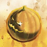 Halloween bad pumpkin Stock Photography