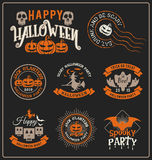 Halloween badge label and frames design Royalty Free Stock Image