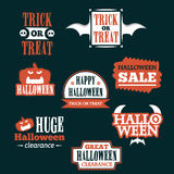 Halloween badge and label sticker collection. Halloween Party, Happy Halloween for sticker, label, banner, greeting card and invit Stock Image