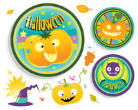 Halloween badges Stock Photos