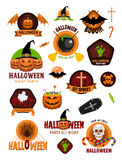 Halloween Badges and Labels Royalty Free Stock Images